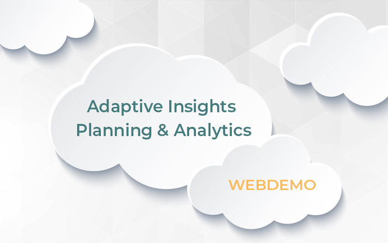 Webbdemo av Adaptive Insights Planning & Analytics.Vi berättar om flexibilitetenoch prognosmöjligheterna i Workday Adaptive Planning – modern cloud lösning.