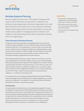 Workday Adaptive Planning är en världsledande molnlösning för rapportering, planering och analys. Byggt av ekonomer för ekonomer och verksamheten.